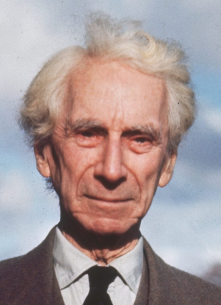 circa 1965: Welsh philosopher, mathematician, author and public figure Bertrand Arthur William Russell (1872 – 1970), 3rd Earl Russell. (Photo by Hulton Archive/Getty Images)
